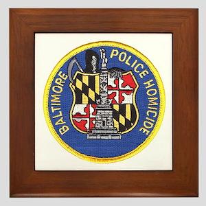 Baltimore Homicide Framed Tile