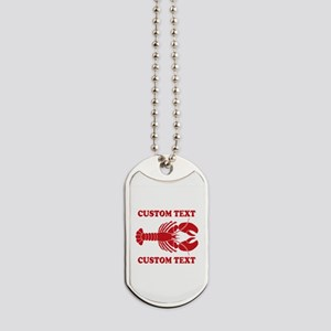 CUSTOM TEXT Lobster Dog Tags