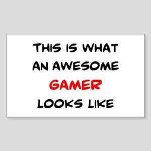 awesome gamer Sticker (Rectangle)