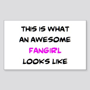 awesome fangirl Sticker (Rectangle)