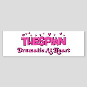 Thespian Hearts Bumper Sticker