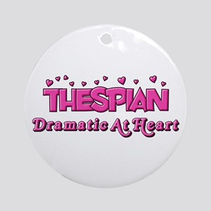 Thespian Hearts Ornament (Round)