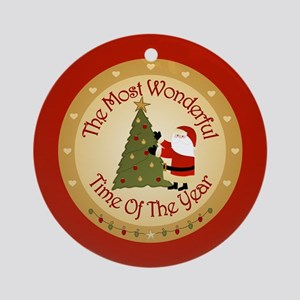 The Most Wonderful Time Of The Year Ornament (Roun