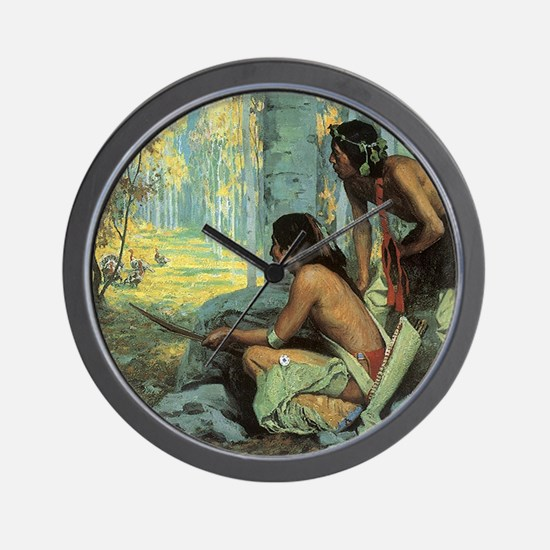 Taos Turkey Hunters by Couse Wall Clock