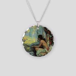 Taos Turkey Hunters by Couse Necklace Circle Charm