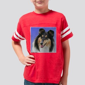 rough collie_tri head 10x10cm Youth Football Shirt