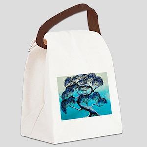 Blue Bonsai Serenity Canvas Lunch Bag