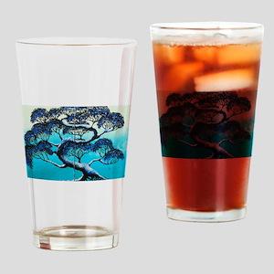 Blue Bonsai Serenity Drinking Glass