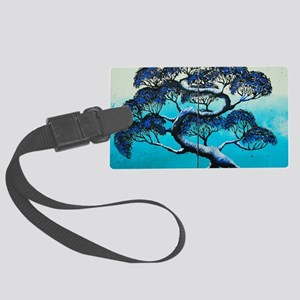 Blue Bonsai Serenity Large Luggage Tag