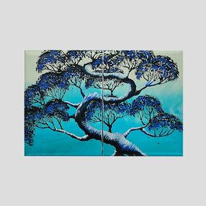 Blue Bonsai Serenity Rectangle Magnet