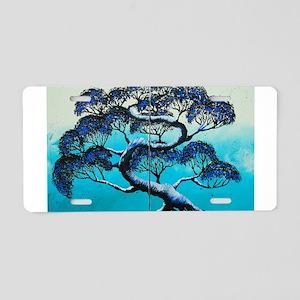 Blue Bonsai Serenity Aluminum License Plate