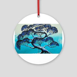 Blue Bonsai Serenity Ornament (Round)