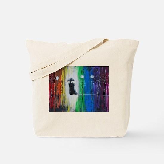 Prismatic Rain Romance Tote Bag