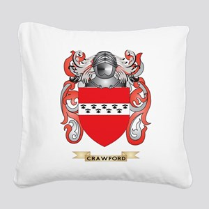 Crawford Coat of Arms Square Canvas Pillow