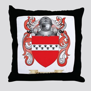 Crawford Coat of Arms Throw Pillow