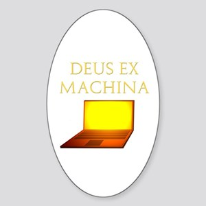 Dea Ex Machina Oval Sticker