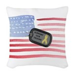 Support Our Troops Woven Throw Pillow