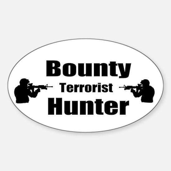 Bounty Terrorist Hunter Sticker (Oval)