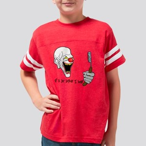 clown-1black Youth Football Shirt