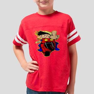 Blk_Crotch_Rocket_Biker_Finge Youth Football Shirt