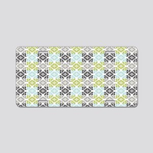 geometric chic damask patte Aluminum License Plate