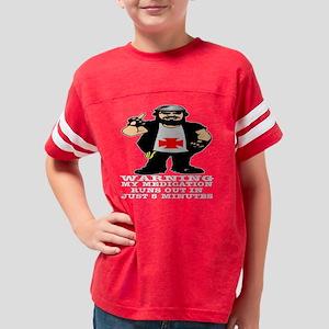Blk_Medication_Runs_Out_5_Min Youth Football Shirt
