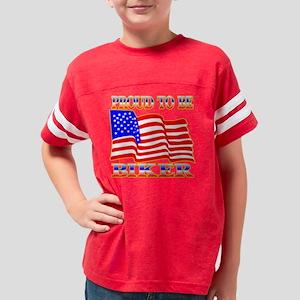 Blk_Proud_Be_American_Biker Youth Football Shirt