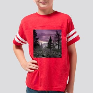 Beautiful Forest Landscape Youth Football Shirt