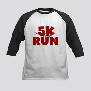 5K Run Red Kids Baseball Jersey