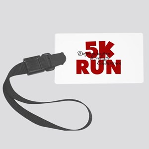 5K Run Red Large Luggage Tag