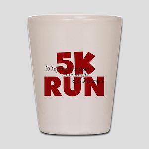 5K Run Red Shot Glass