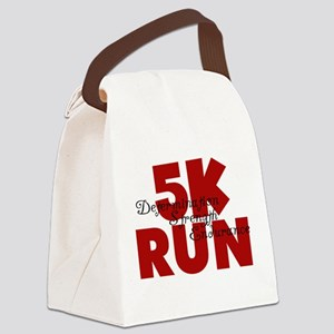 5K Run Red Canvas Lunch Bag