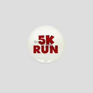 5K Run Red Mini Button