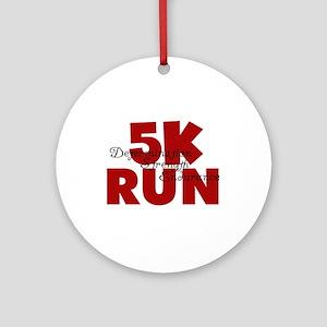 5K Run Red Ornament (Round)