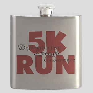 5K Run Red Flask