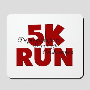 5K Run Red Mousepad