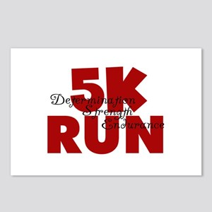 5K Run Red Postcards (Package of 8)