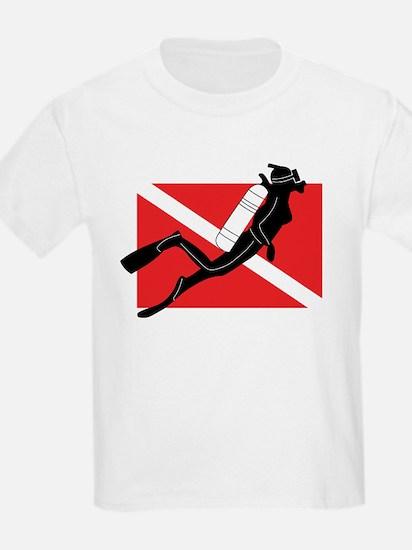 Girl SCUBA Diver Kids T-Shirt