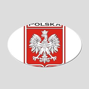 Polska Shield / Poland Shield 20x12 Oval Wall Deca