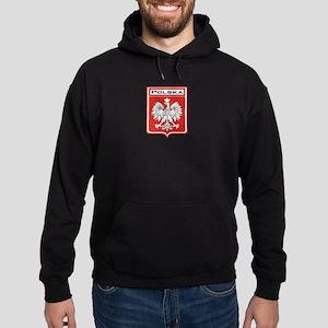 Polska Shield / Poland Shield Hoodie (dark)