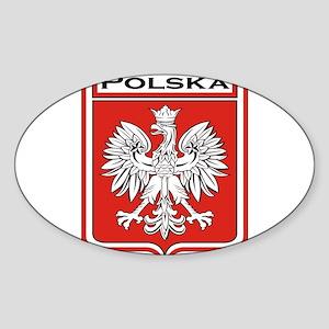 Polska Shield / Poland Shield Sticker (Oval)