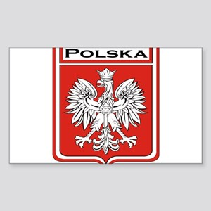 Polish Eagle Red Shield Dog592979682 Rectangle Stickers Cafepress