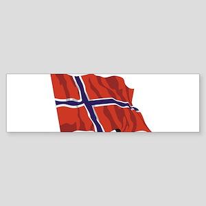 NORWAY-wavy Sticker (Bumper)