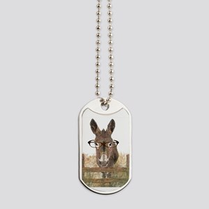 Humorous Smart Ass Donkey Painting Dog Tags
