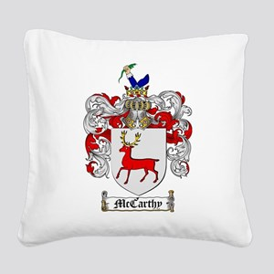 McCarthy Family Crest Square Canvas Pillow