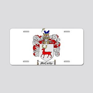 McCarthy Family Crest Aluminum License Plate