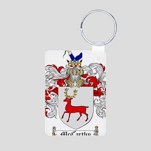 McCarthy Family Crest Aluminum Photo Keychain