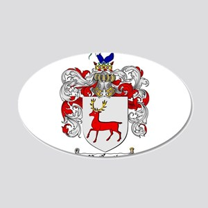McCarthy Family Crest 20x12 Oval Wall Decal