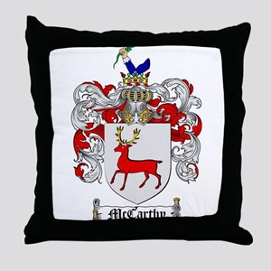 McCarthy Family Crest Throw Pillow