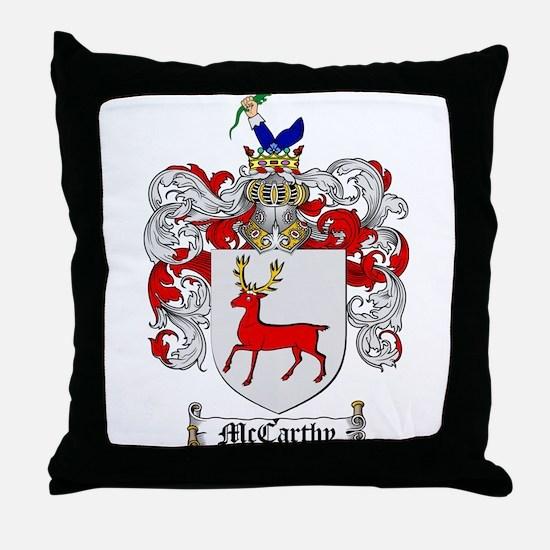 McCarthy Family Crest Throw Pillow